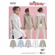 8416  Simplicity Pattern: Misses' Shirt